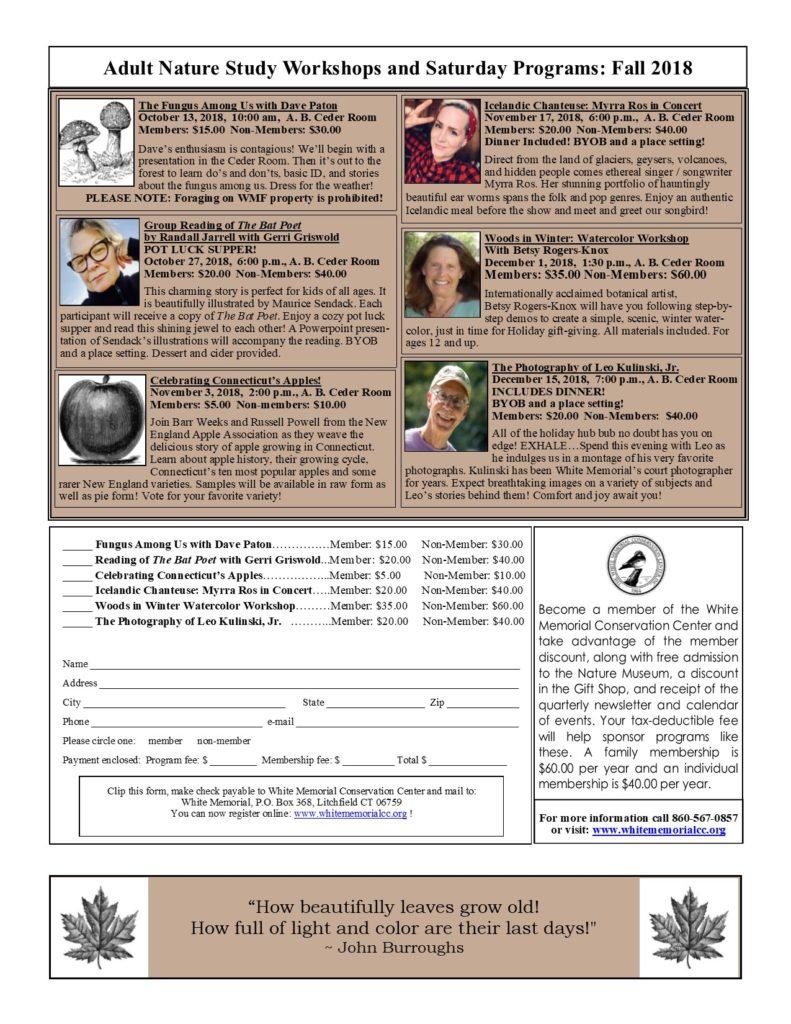 Workshops Fall 2018