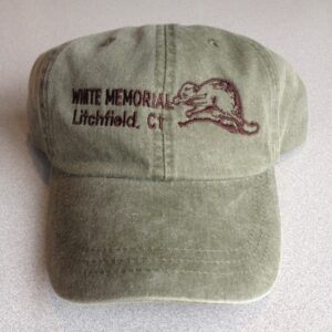 White Memorial Foundation Olive Green Embroidered Baseball Cap