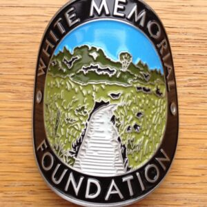 White Memorial Foundation Hiking Stick Medallion