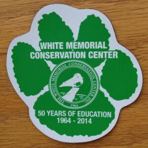 White Memorial Magnet