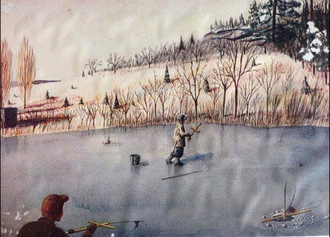 Roy A Anderson Ice Fishing