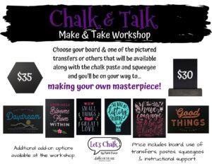 """Chalk Art """"Make & Take"""" Event with Patti Punzi"""