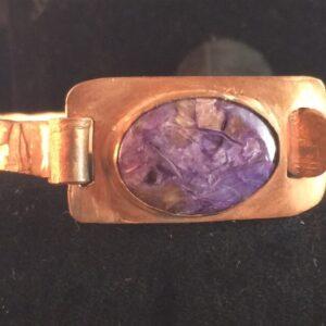 Copper Violets - Charoite in Copper Bracelet