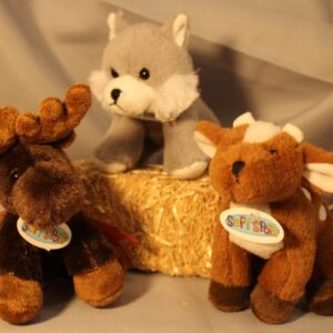 Forest Friends Plush Toys ~ Deer, Moose, or Wolf