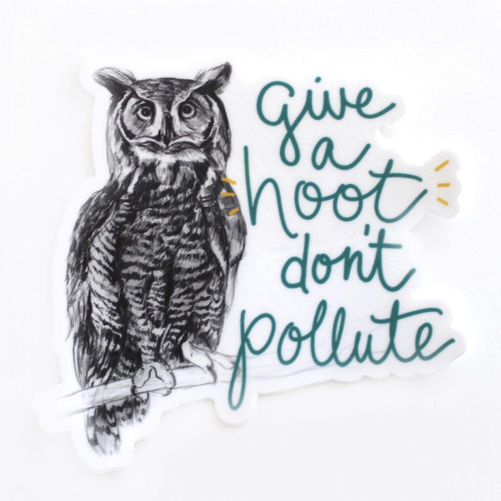 Give a hoot sticker