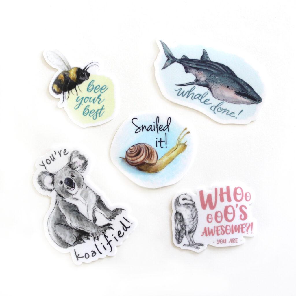 Pun stickers 1