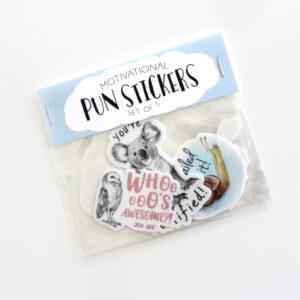 Amanda Surveski Animal Pun Stickers