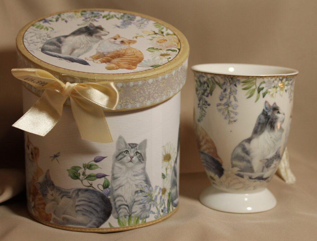 bone china kitty mug