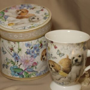 Bone China Puppy Tall Coffee/Tea Mug