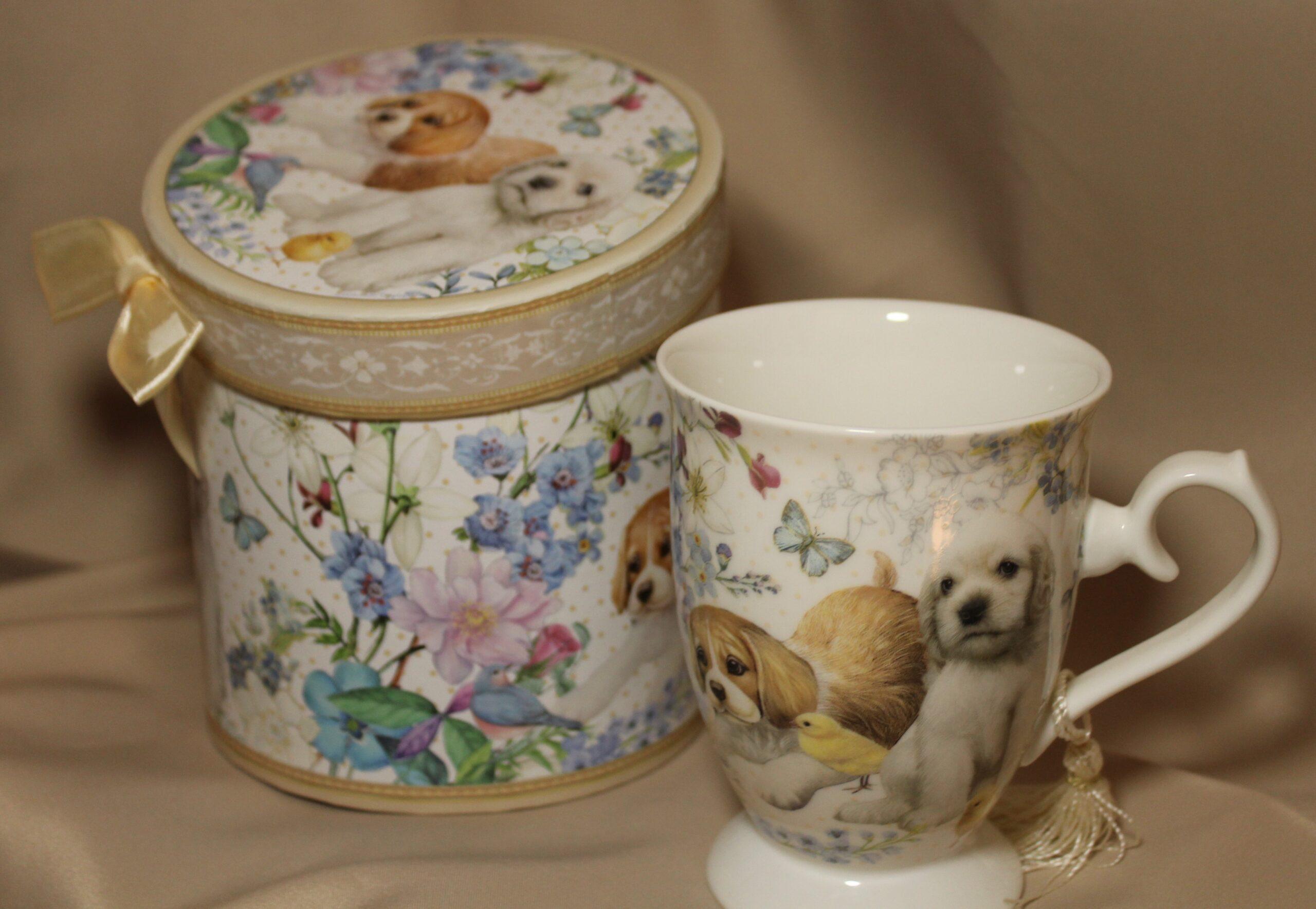 bone china puppy mug