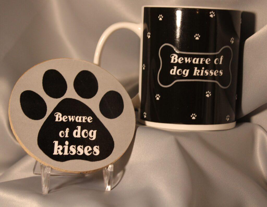 dog mug and coaster set